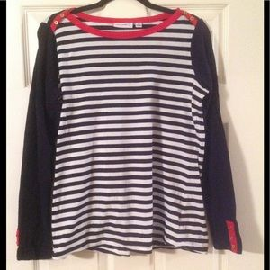 Weekend Striped Stretch Cotton Top